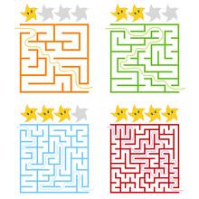A Set Of Square Colored Labyri...