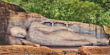 Recumbent  Buddha Statue At Th...