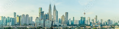Panorama of Kuala Lumpur in the morning Wallpaper Mural