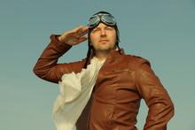 Portrait Of A Vintage Pilot ...