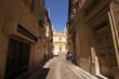 Street leading to Saint Helen Collegiate Basilica in Birkirkara (B'kara), Malta