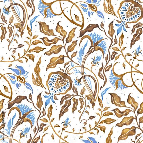 kwiaty-i-liscie-abstrakcja-rocznika-wzor-kwiaty-malowane