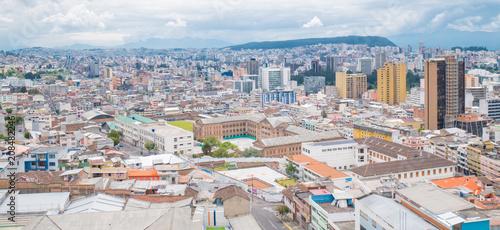 Poster Zuid-Amerika land Panorama of Quito, Ecuador