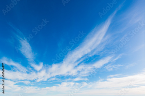 Fototapety, obrazy: Bright sky blue background. Sky in daylight with beautiful white cloud.