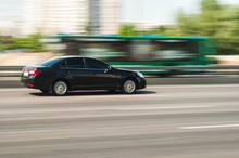 Chevrolet Car Motion Blur In Kyiv, Ukraine, 7 June 2018 Editorial