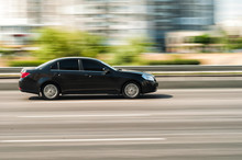 Chevrolet Car Motion Blur In Kyiv, Ukraine, 7 June 2018 Editorial