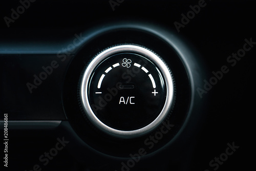 Photo Car air conditioning button.