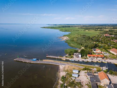 In de dag Poort Aerial: Pier in Frombork, Poland