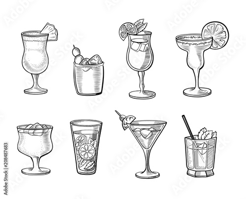 Fotografía  Set of alcoholic cocktails