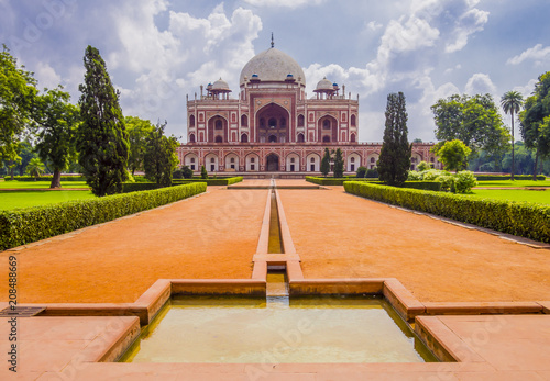 Printed kitchen splashbacks Delhi Tomb of Mughal Emperor Humayun surrounded by Char Bagh gardens, Delhi, India