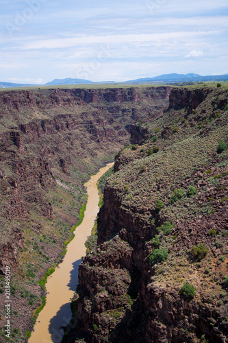 Foto op Canvas Zwart Southwest river landscape