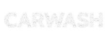 Text From Droplets Texture. Wo...