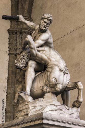 Foto  Statue Hercules and Nessus in Loggia dei Lanzi in Florence