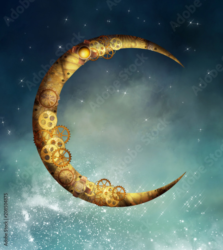 Steampunk moon
