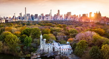 New York Panorama From Central Park, Aerial View