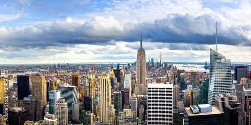 Foto op Aluminium New York New york skyline and Manhattan panoramic view