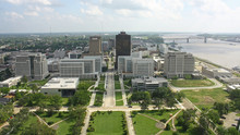 Vista De Baton Rouge Desde El Capitolio Estatal De Lusiana, Luisiana