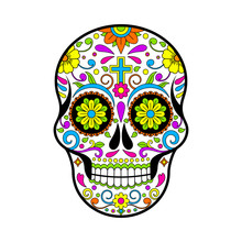 Mexican Sugar Skulls, Day Of T...