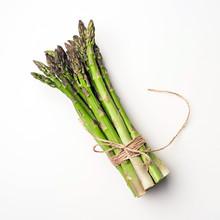 Food Background Asparagus Flat...