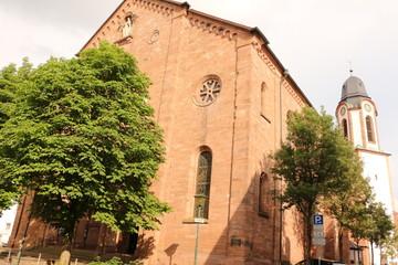 Fototapeta na wymiar Die Katholische Kirche im Zentrum von Oberkirch