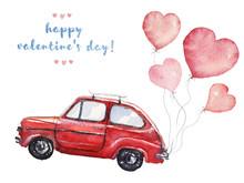Watercolor Valentine's Day Ill...