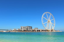 Construction Of The Largest Ferris Wheel By The Sea. Dubai, March, 2018.
