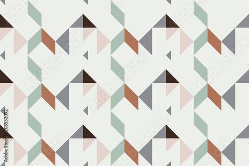 Fotografie, Obraz  Geo seamless pattern, geometrical ornament, seamless fabric print, vintage print