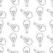 Seamless decorative hand drawn light bulb illustrations. Surface, energy, concept & idea.
