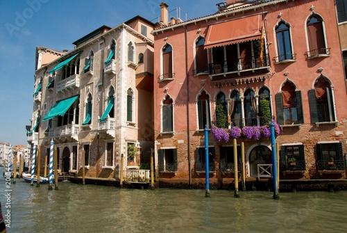 Fototapety, obrazy: Bunte Palazzo am Canal Grande in Venedig