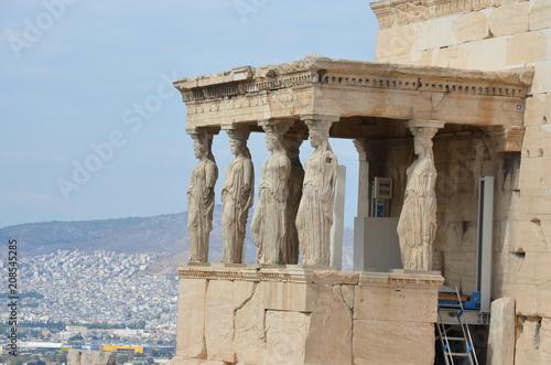 Printed kitchen splashbacks Athens Erechtheion athens ruins ancient caryatid greece