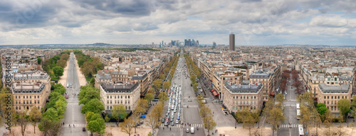 Photo Stands Paris View from the Arc de Triomphe