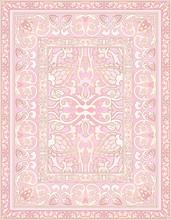 Pink Ornamental Carpet.