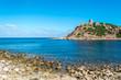 View of sardinian coast and beach
