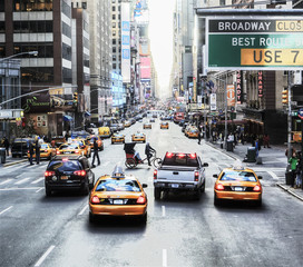 Street in New York, Manhattan.