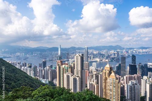 Plakat panoramiczna panoramę miasta w mieście
