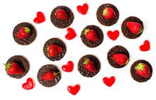 Round Strawberry Cookies Desse...