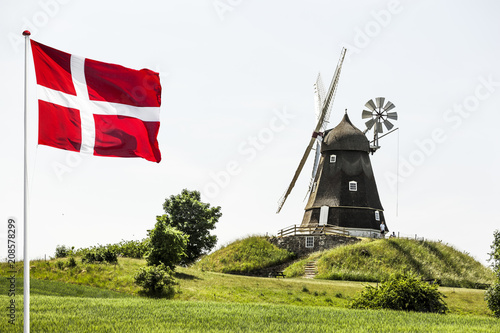 Foto op Canvas Europa Windmühle in Dänemark