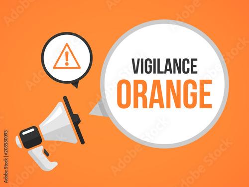 vigilance orange Wallpaper Mural