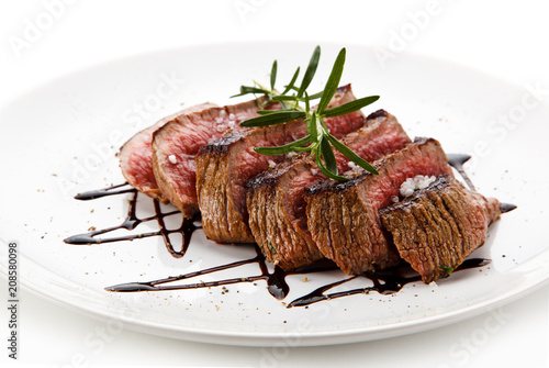Fillet mignon with chocolate