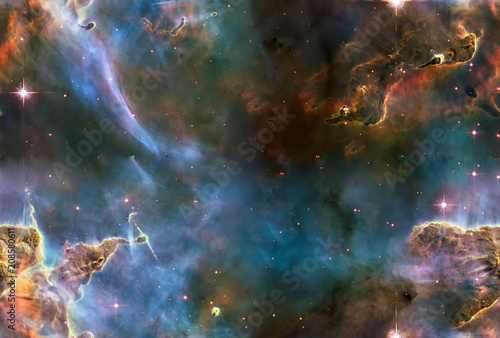 Cloud of interstellar gas in Carina Nebula. Elements of this image furnished by NASA.