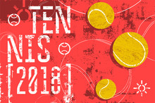 Tennis Typographical Vintage G...