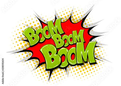 Fotografie, Obraz  Boom pop art comic book text speech bubble