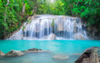 canvas print picture Erawan Waterfall in Thailand