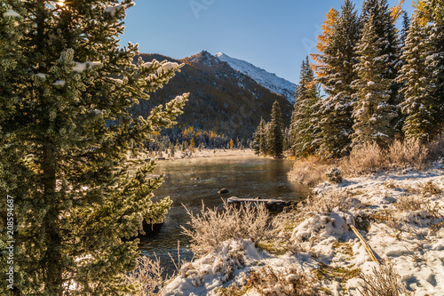 Staande foto Zwart Landscape with the Altai mountains, Russia.