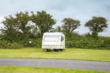 Caravan On Campsite UK