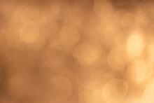 Gold Orange Brown Abstract Light Bokeh Background