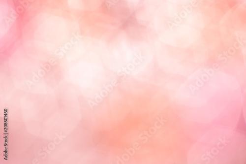 Fotografie, Obraz  vintage Blurred bokeh pink and orange spring pastel background.