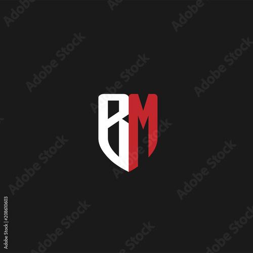 Photo  Initial Letter BM Logo Template Design