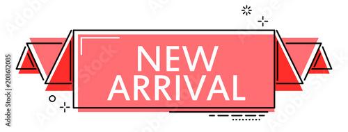 Fototapeta red flat line banner new arrival obraz