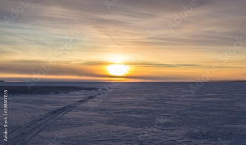 Foto op Aluminium Zalm Winter landscape from Sotkamo, Finland.